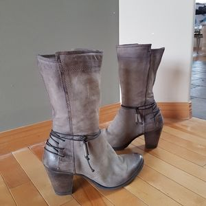 MJUS 3/4 Length Leather Boots